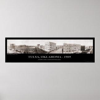 Tulsa, OK - Panoramic Photograph - 1909 Poster