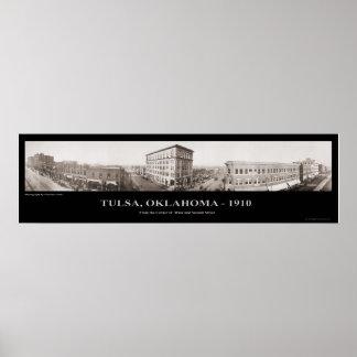 Tulsa, OK -  Panoramic Photograph - 1910 Poster