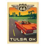 Tulsa, OK - Route 66 Postcard