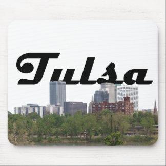 Tulsa OK Skyline with Tulsa in the Sky Mousepad