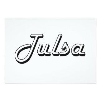 Tulsa Oklahoma Classic Retro Design 13 Cm X 18 Cm Invitation Card
