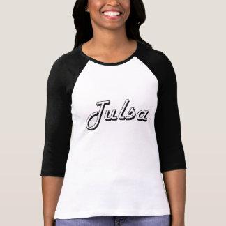 Tulsa Oklahoma Classic Retro Design Tee Shirts