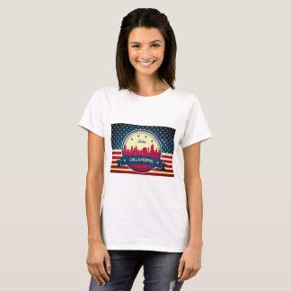 Tulsa Oklahoma Retro Skyline T-Shirt