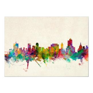 Tulsa Oklahoma Skyline Cityscape 13 Cm X 18 Cm Invitation Card