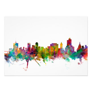 Tulsa Oklahoma Skyline Personalized Announcement