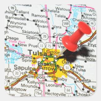 Tulsa, Oklahoma Square Sticker