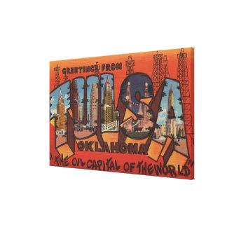 Tulsa, OklahomaLarge Letter ScenesTulsa, OK Canvas Print