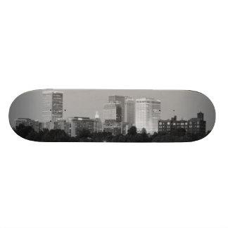 Tulsa Skyline B&W Skateboard Deck