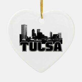 Tulsa Skyline Christmas Ornament