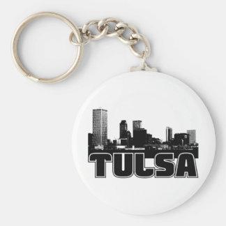 Tulsa Skyline Key Ring