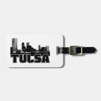 Tulsa Skyline Luggage Tag