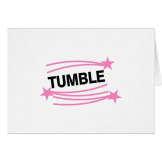 Tumble Greeting Card