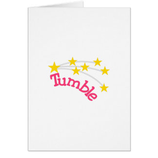 Tumble Greeting Card