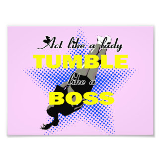 Tumble lika a Boss Cheerleader Art Photo