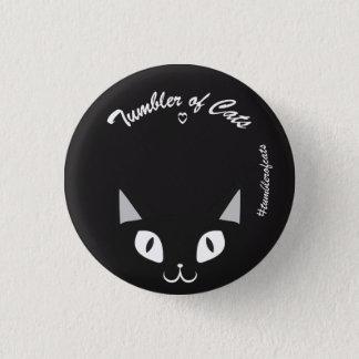 TumblerofCats button - Black on black TumblerCat