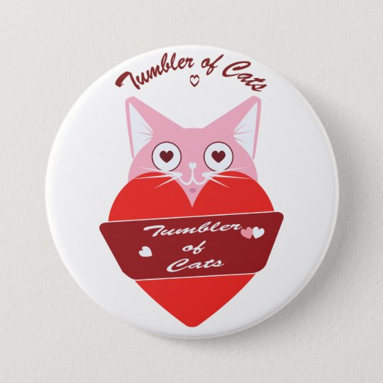 TumblerofCats button - Valentine Special Edition