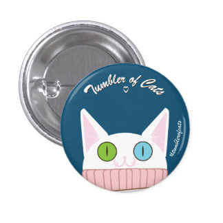 TumblerofCats button - White TumblerCat
