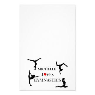 Tumblers Love Gymnastics Add Name Custom Stationery