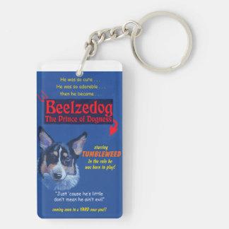 """Tumbleweed, Prince of Dogness"""" Double-Sided Rectangular Acrylic Key Ring"""