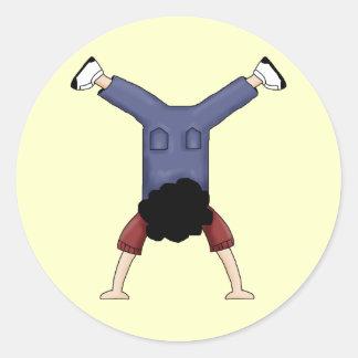 Tumbling Boy Round Sticker