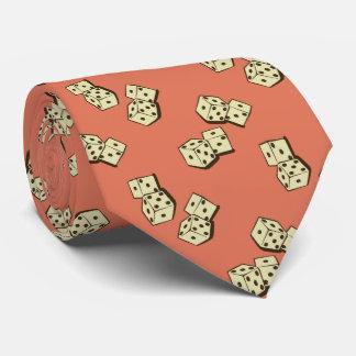 Tumbling Dice Gambling Papaya Two-sided Tie