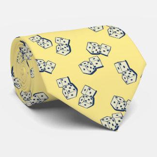 Tumbling Dice Gambling Yellow Two-sided Tie