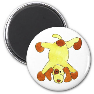 Tumbling Doggy 6 Cm Round Magnet