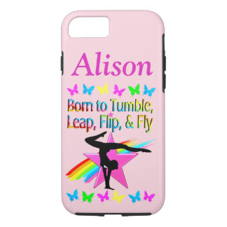 TUMBLING GYMNAST PERSONALIZED PHONE CASE