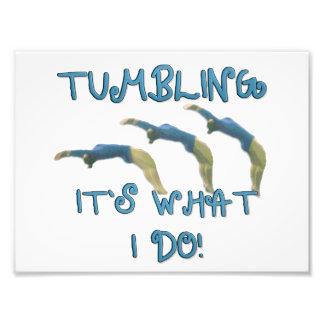 Tumbling gymnast photographic print