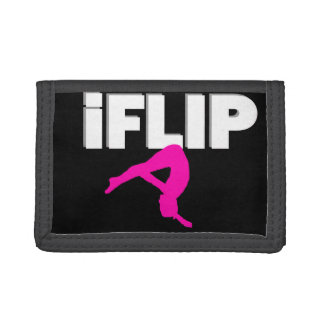 Tumbling gymnast trifold wallet