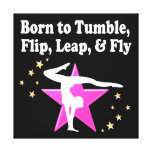 TUMBLING GYMNASTICS DESIGN GALLERY WRAPPED CANVAS
