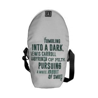 Tumbling into a dark Lewis Carroll labyrinth Messenger Bag