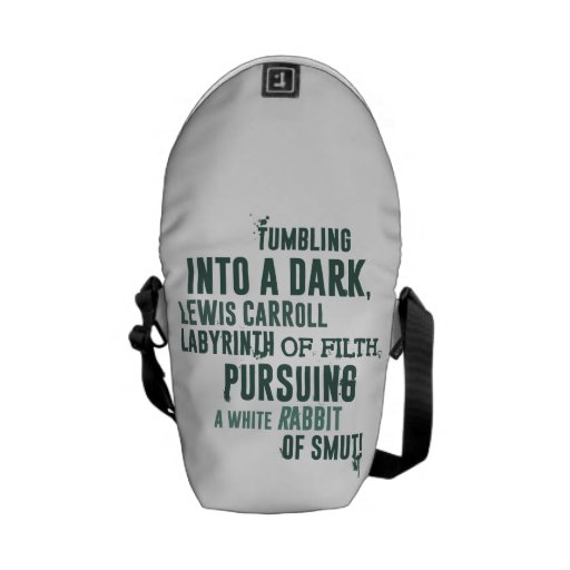 Tumbling into a dark, Lewis Carroll labyrinth... Messenger Bag
