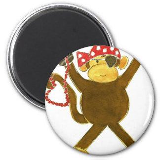 Tumbling Monkey Pirate Refrigerator Magnets