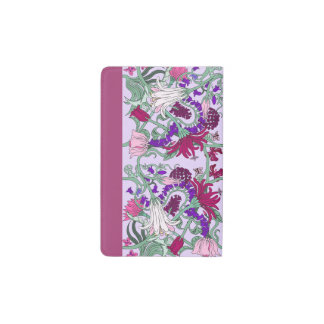 Tumbling Pink Flowers Moleskin Note Book Cover