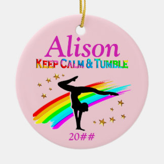 TUMBLING QUEEN PERSONALIZED ORNAMENT