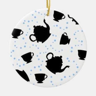 Tumbling Tea Party Round Ceramic Decoration