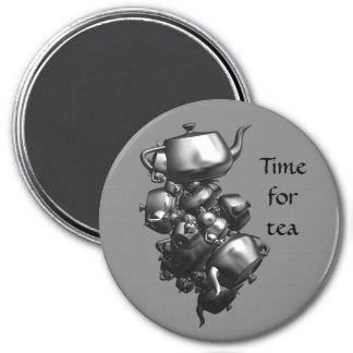 Tumbling teapots fractal magnet fridge magnets