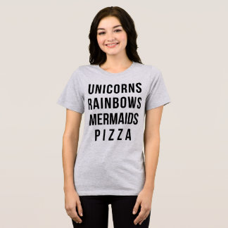 Tumblr T-Shirt Unicorns Rainbows Mermaids Pizza