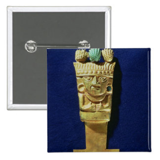 Tumi or ceremonial knife in the shape of 15 cm square badge