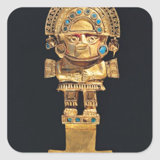 Tumi or ceremonial knife in the shape of square sticker