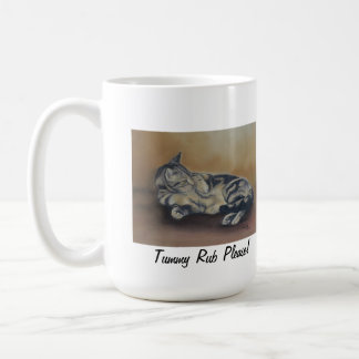 Tummy Rub Please Cat Art Mug