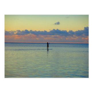 Tumon Bay paddle boarding Postcard