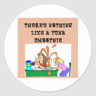 tuna SMOOTHIE joke Round Sticker