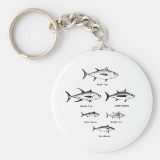 Tuna Species Logo Key Ring