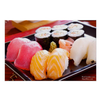 Tuna Yellowfin Etc Sushi Combo Posters