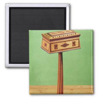 Tunbridge-ware tea poy magnet