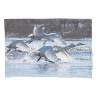 Tundra Swan Birds Animals Wildlife Pillowcase