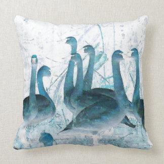 Tundra Swan Birds Animals Wildlife Throw Pillow