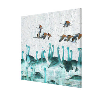 Tundra Swan Birds Wildlife Animals Canvas Print